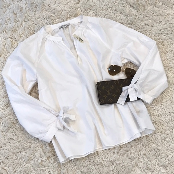 NWT Madewell Pullover Tie Sleeve Blouse